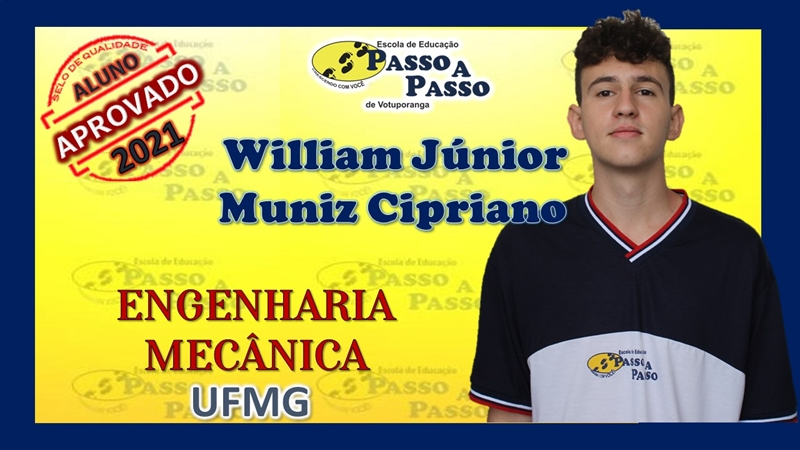 Parabéns William Júnior Muniz Cipriano